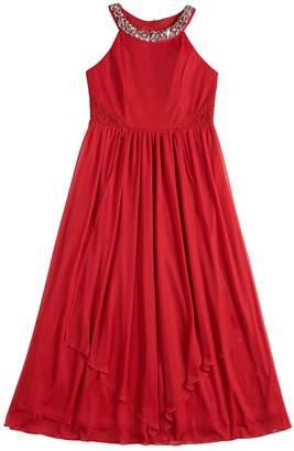 My Michelle Girls 7-16 Embellished Halter Maxi Dress