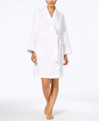 Charter Club Short Dimple Contrast Robe, Created for Macy's