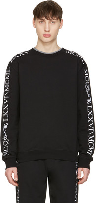 McQ Alexander McQueen Black Numeral Clean Pullover $270 thestylecure.com