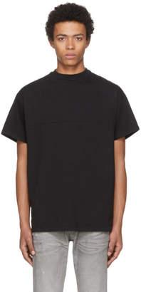 John Elliott Black Mock Panel T-Shirt