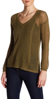 Kier & J V-Neck Open Knit Sweater $65 thestylecure.com