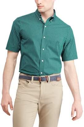 Chaps Big & Tall Classic-Fit Plaid Poplin Button-Down Shirt