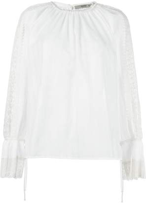 Etro pleated detail blouse