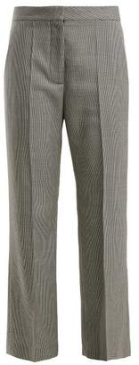 Stella McCartney Houndstooth Pleated Wool Trousers - Womens - Grey