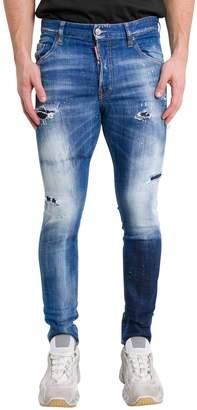 DSQUARED2 Acid Green Spots Wash Skinny Jeans