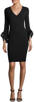 Milly Layered Ruffle-Sleeve Sheath Dress