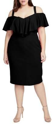 Rachel Roy Cold Shoulder Scuba Dress