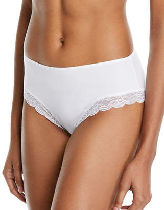 Hanro Cotton Lace High Leg Brief