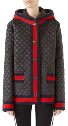 Gucci Quilted Caban with Removable Hood
