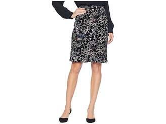 Tahari ASL Sequin Embroidered Skirt on Velvet Women's Skirt