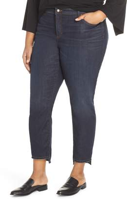 Eileen Fisher Fray Step Hem Ankle Skinny Jeans