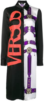 Versus colourblock printed shirt dress