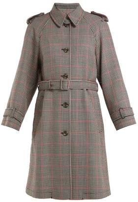RED Valentino Houndstooth Trench Coat - Womens - Red Multi