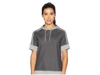 adidas Sid Short Sleeve Pullover Hoodie Women's Sweatshirt