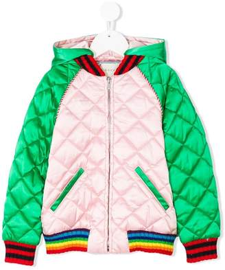 Gucci Kids embroidered bomber jacket