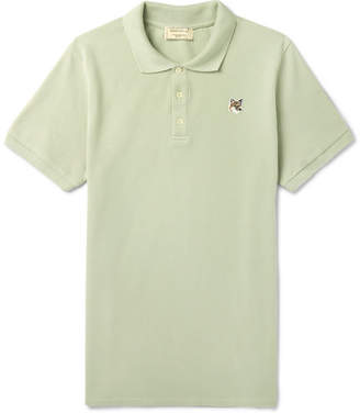 MAISON KITSUNÉ Cotton-Piqué Polo Shirt