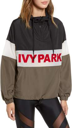 Ivy Park R) Logo Graphic Hooded Jacket