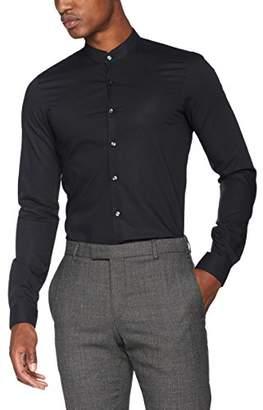 Calvin Klein Men's Elba Extra Slim Fit Formal Shirt, (Black 001)