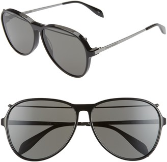 Alexander McQueen 61mm Gradient Aviator Sunglasses