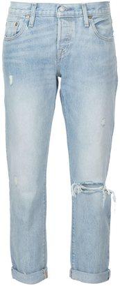 Levi's distressed boyfriend jeans $168 thestylecure.com