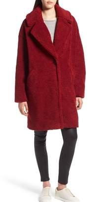 KENDALL + KYLIE Faux-Fur Teddy Coat