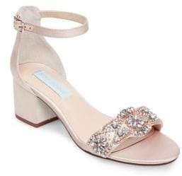 Betsey Johnson Mel Embellished Ankle-Strap Sandals
