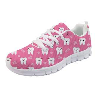 e015903240a2 IDEA HUGS Dental Tooth Print Women s Sneakers Fashion Athletic Tennis Running  Shoes