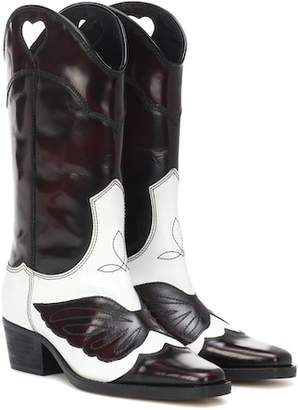 Ganni Marlyn leather cowboy boots