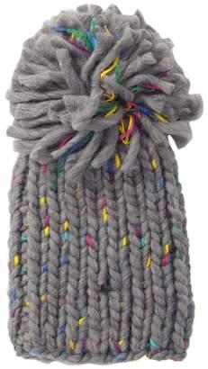 Steve Madden Chunky Knit Pompom Beanie