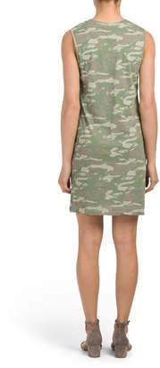 Monrow Made In Usa Camo Tank Dress