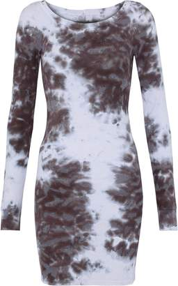 Enza Costa Tie-dyed Ribbed Stretch-jersey Mini Dress