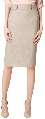 Le Château Women's Stretch Textured Pencil Skirt