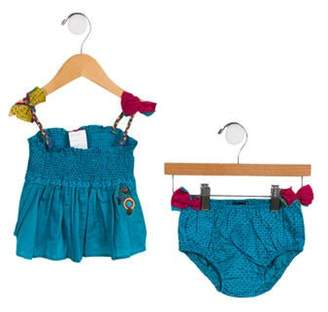 Catimini Girls' Two-Piece Dress Set turquoise Girls' Two-Piece Dress Set
