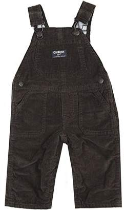 Osh Kosh Baby Boys Flannel Lined Cord Overalls Mint Plaid 6 Months