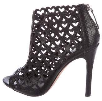 Alice + Olivia Embossed Cutout Booties