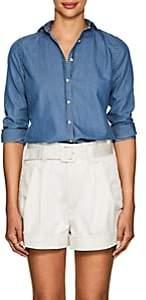 Barneys New York Women's Cotton Chambray Shirt-Blue