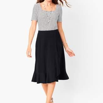 Talbots Jersey Cascading Midi Skirt