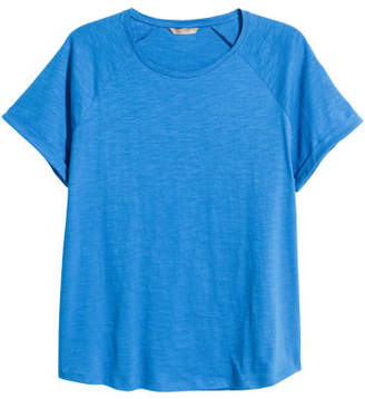 H&M H&M+ Short-sleeved Top - Blue