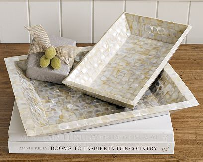 All-Over Mother-of-Pearl Trays