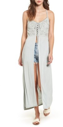 Women's Sun & Shadow Embroidered Maxi Top $45 thestylecure.com