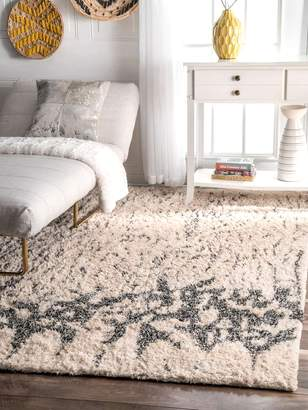 nuLoom Abstract Marie Cotton Shag Rug