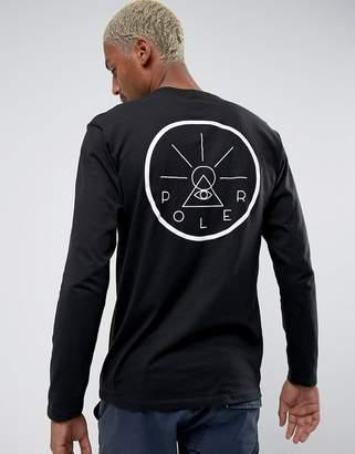 Poler Long Sleeve T-Shirt With Golden Circle Back Print