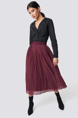 NA-KD Na Kd Pleated Long Skirt Black