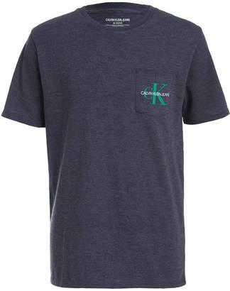 Calvin Klein Jeans Big Boys Monogram Logo Pocket T-Shirt