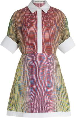 Mary Katrantzou Achilles More Optic-print silk and jacquard dress