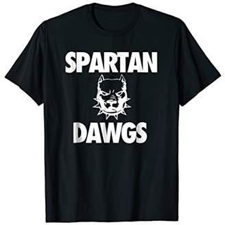 Dawgs Spartan Bold Pitbull T-shirt for Sports Fans