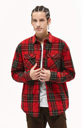 PacSun Premo Plaid Flannel Shacket