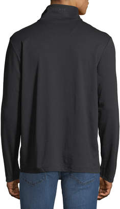 DKNY Men's Mock-Neck Half-Zip Jacket