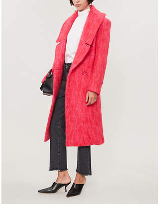 Paper London Rainbow check wool-blend coat