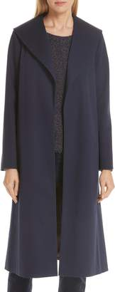 Eileen Fisher Belted Stretch Organic Cotton Coat
